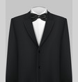 elegant suit and tuxedo with bow tie vector image vector image