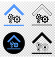 engine service garage eps icon with contour vector image