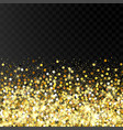 falling golden particles on a black background