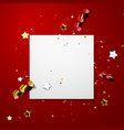 festive advertising banner mockup vector image
