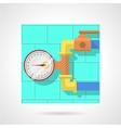 Flat color icon for manometer vector image vector image