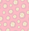 Flowers seamless texture on pastel background vector image