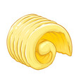 fresh butter curl vector image vector image
