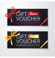 gift voucher with clean modern premium pattern vector image vector image