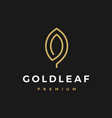 gold leaf logo icon vector image vector image