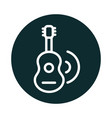 guitar music melody sound block style icon vector image