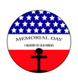 happy memorial day vector image
