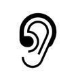 hearing aid icon vector image vector image