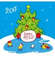 holiday card for the new year vector image vector image