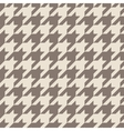 Houndstooth tile brown pattern or background vector image