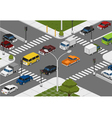 intersection vector image vector image