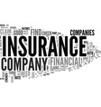 is your insurance company rated text background vector image vector image