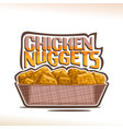 logo for crispy chicken nuggets vector image vector image
