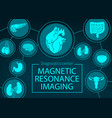 mri organs and joints medicine vector image vector image