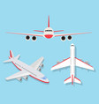 plane object vector image