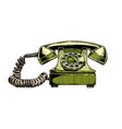 rotary dial telephone vector image vector image