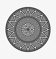 round ornament shapes isolated on light gray vector image vector image