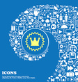 rown sign icon Nice set of beautiful icons vector image