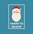santa claus concept poster t shirt print design vector image vector image