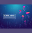 sea and jellyfish background banner vector image vector image