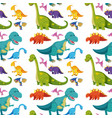 seamless background with many dinosaurs vector image vector image