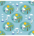 seamless pattern with hand drawn sailing vector image vector image