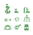 Set of icons money and goods Shipping logistics vector image