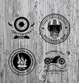 Set of labels motorbike shop vector image vector image
