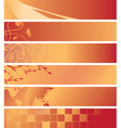set - red and orange banners vector image vector image