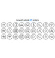 set smart home line icons smart house vector image vector image