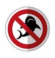 shark silhouette alert icon vector image