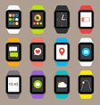 smart watch icons vector image