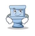 smirking toilet character cartoon style vector image vector image