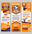 soccer championship match banner of football sport vector image