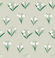 spring easter pattern with white flowers bells vector image