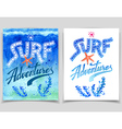 Surf Adventures watercolor cards vector image vector image