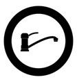 tap or faucet sign icon black color in circle vector image