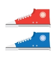 The isolated modern sneakers vector image vector image