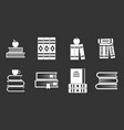 volume of book icon set grey vector image