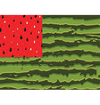 Watermelon flag as symbol of summer with red and vector image