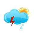 weather rain cloud vector image vector image