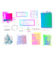 weird abstract frame elements set vector image