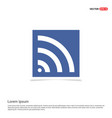 wi-fi icon - blue photo frame vector image