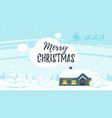 winter background with house vector image