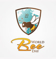 world bee day vector image