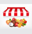 fruits market concept vector image