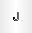 black letter j logo design element vector image