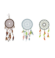 set dreamcatcher Isolated on white background vector image