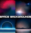 4 Space Backgrounds vector image vector image