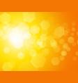 abstract yellow hexagon background vector image vector image